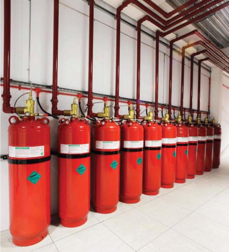 Temiz gazlı yangın söndürme sistemleri